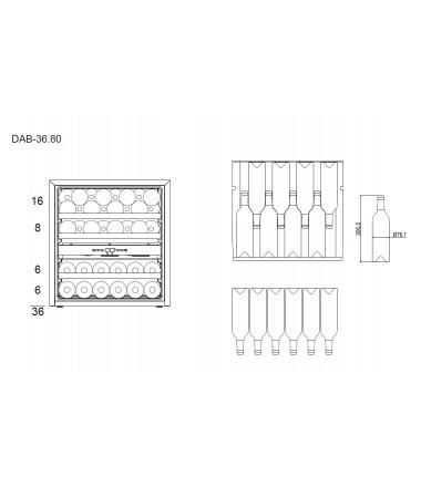 Dunavox DAB-36.80DSS Inbouw Wijnklimaatkast