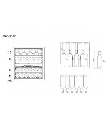 Dunavox DAB-36.80DB Inbouw Wijnklimaatkast